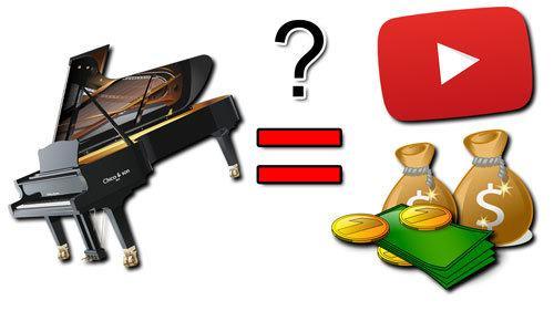 Mit YouTube Geld verdienen dank klavier