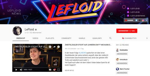 lefloid youtube kanal