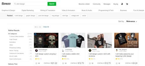merchandise design auf fiverr