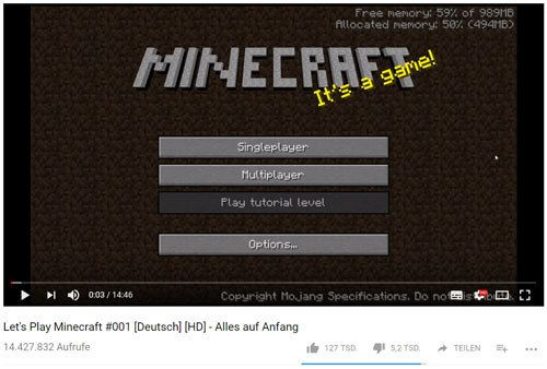 minecraft lets play youtuber werden gaming