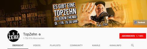 topzehn wie werde ich youtuber