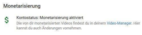 youtube partner monetarisierung aktivieren