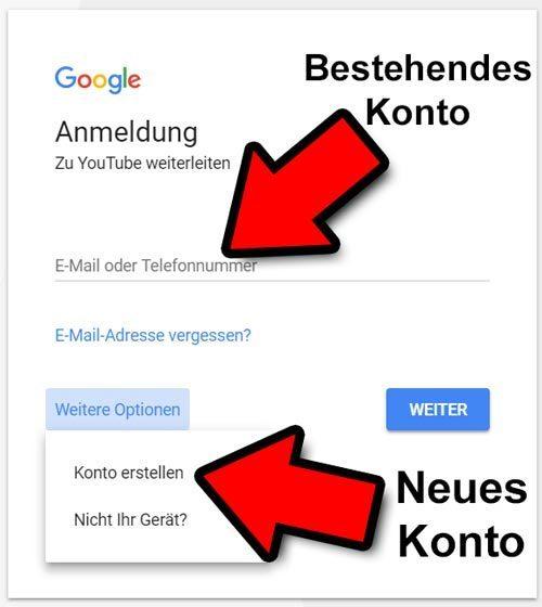 yt channel erstellen google konto
